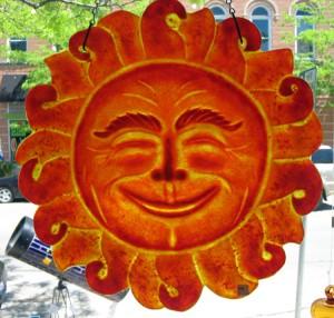 Cast sun face