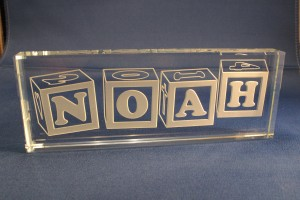 Baby name plate