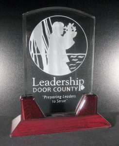 Leadership Door County plaque