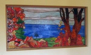 Lake view panel - installed