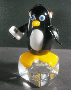 Penguin chillin with his ipod