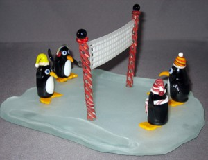 penguine volleyball